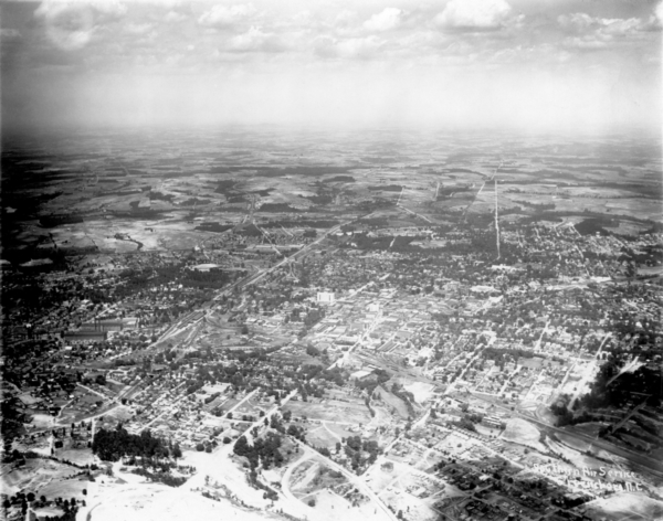 Aerial Photo of Downtown Spartanburg - 1927