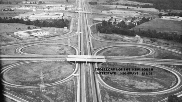 Cloverleaf of I-26 and I-85